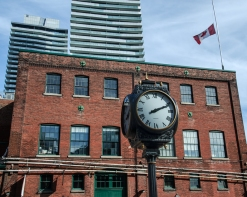 Clock at the Distillery District