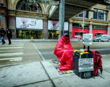 panhandling in winter