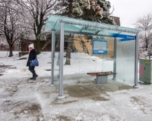 Bus Shelter after the Storm