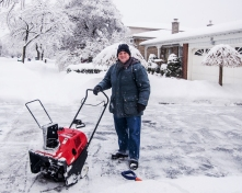 Man and his snow blower