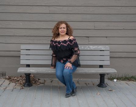 wbMartha Sitting on the Bench