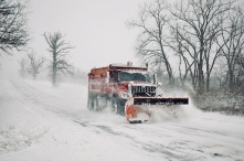 snow plow winter