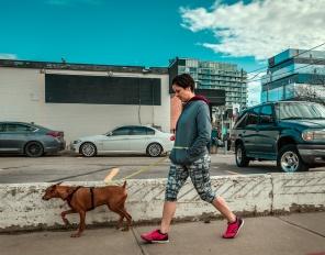 wb_smoky_woman walking her dog